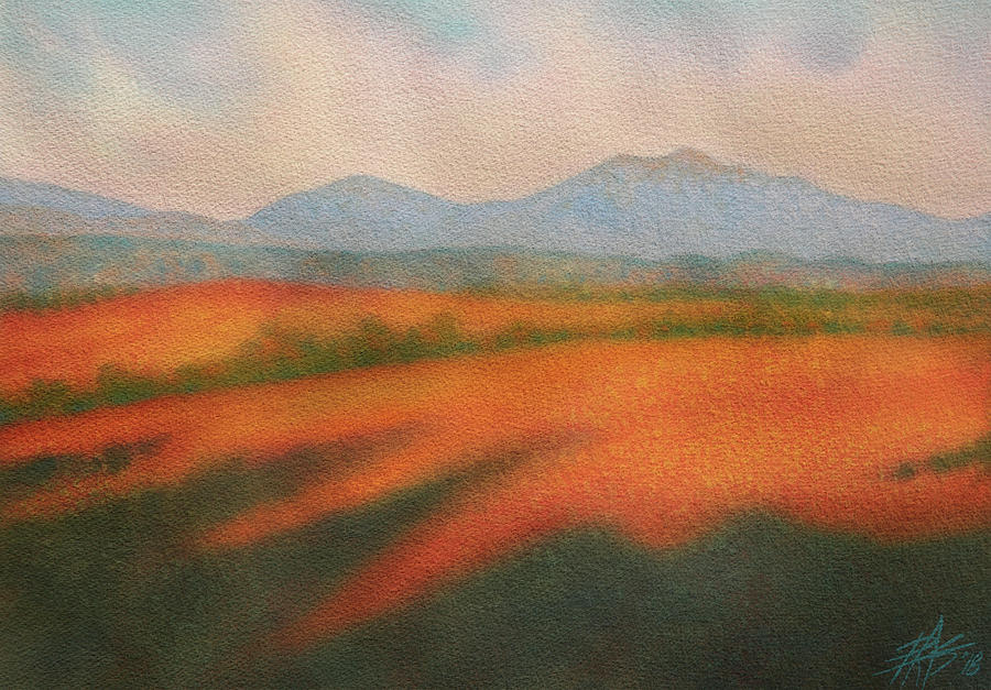 Landscape Painting - Rangeland by Robin Street-Morris