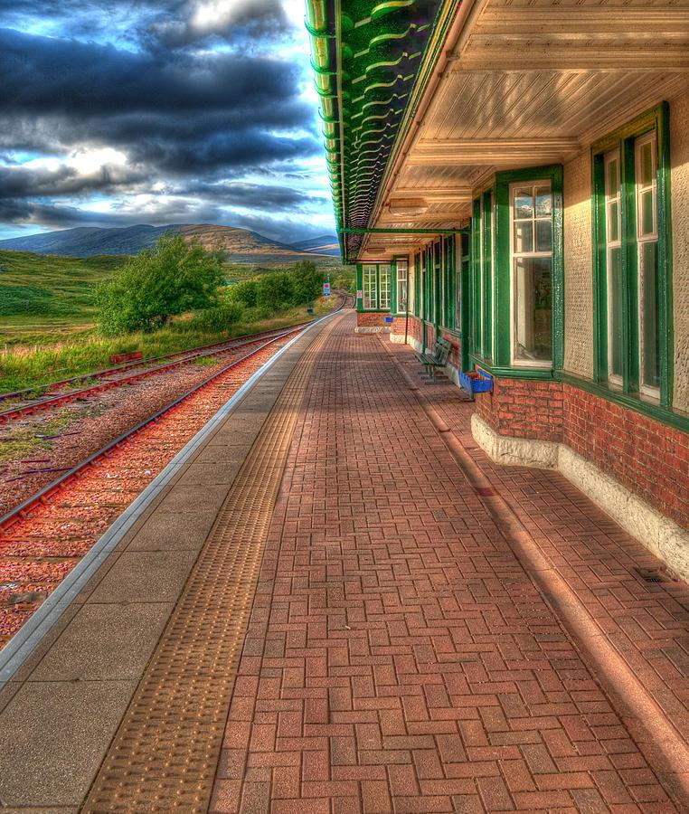 Rannoch Moor Photograph - Rannoch Station Platform by Chris Thaxter