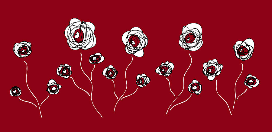 Ranunculus Painting by Frank Tschakert