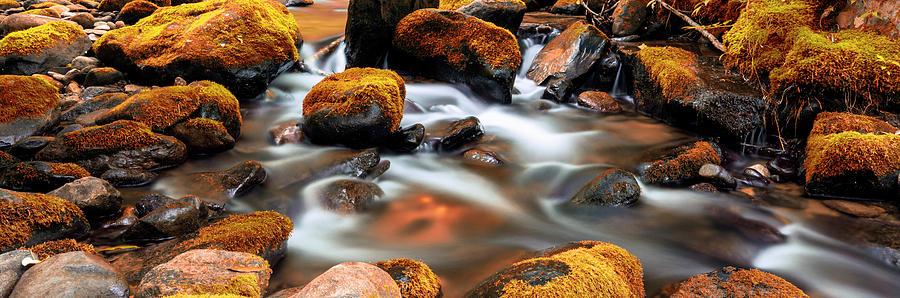 Roaring Fork Photograph - Roaring Fork Cascade - Indian Summer by Stephen Stookey