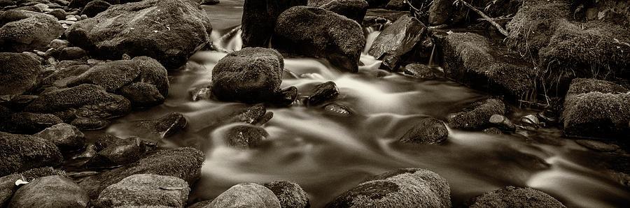 Roaring Fork Photograph - Roaring Fork Cascade - Sepia by Stephen Stookey