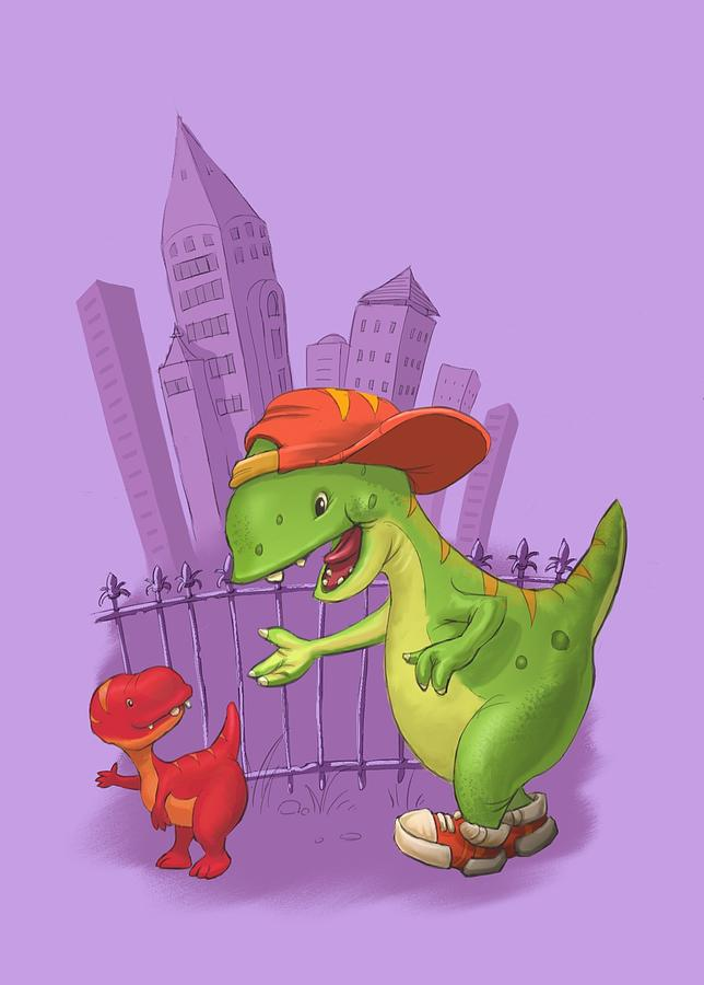 Rap-rap raptor city by Andy Catling