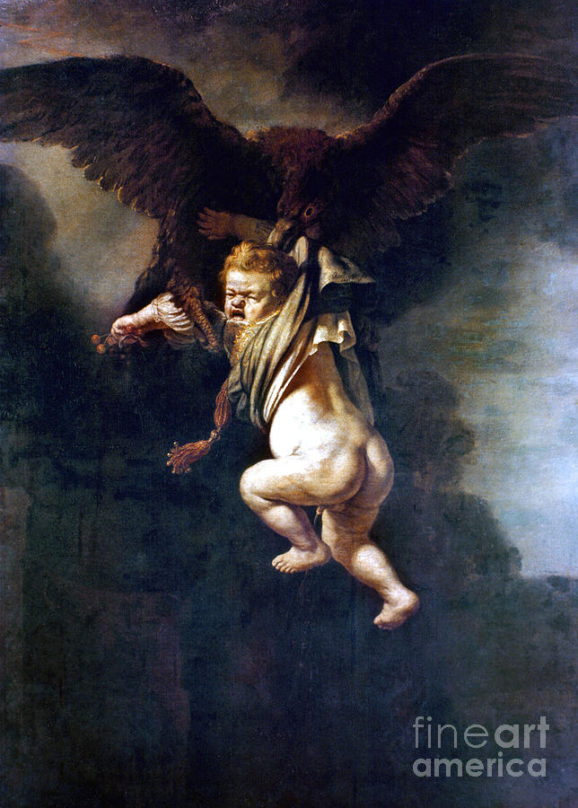 1635 Painting - Rape Of Ganymede by Granger