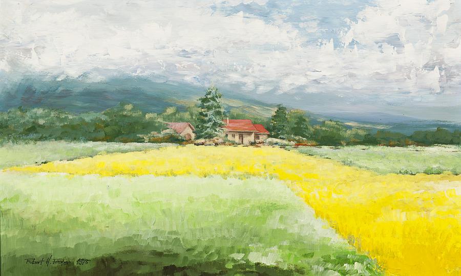 Fields Painting - Rape Seed Farm by Robert Foster
