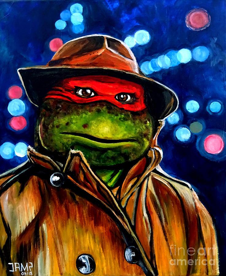 Raphael Painting - Raphael Ninja Turtle by Jose Mendez