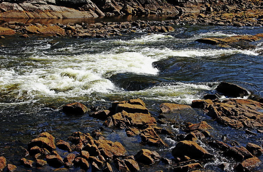 French River Photograph - Rapids And Rocks by Debbie Oppermann