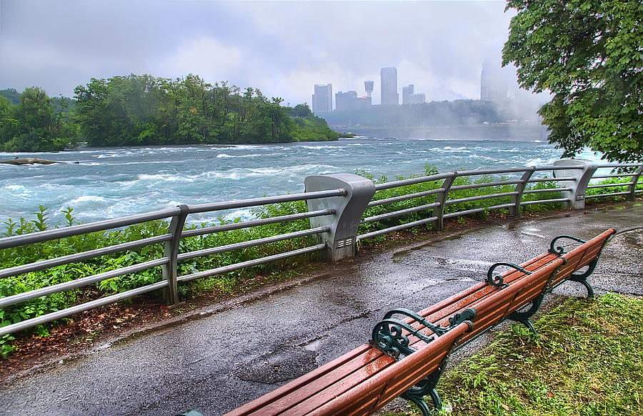 Waterfall Photograph - Rapids In The Rain by Tammy Wetzel