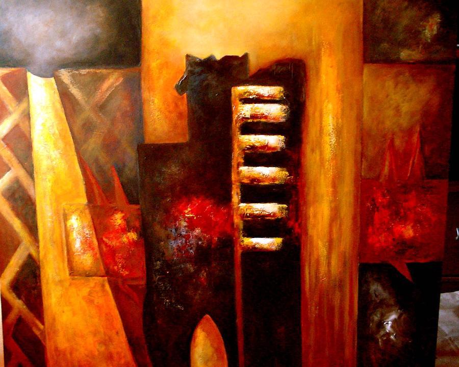 Abstract Painting - Rapsodia Bohemia by Daniella Arteaga Vallarino Artist