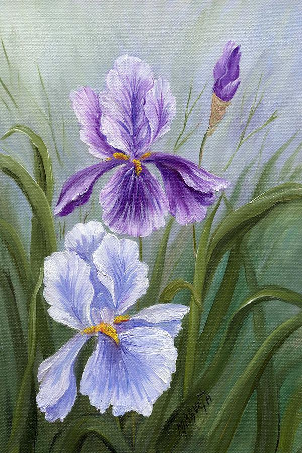 Floral Painting - Rapsody Iris by Marveta Foutch
