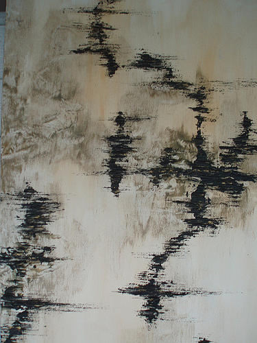 Black Painting - Rapture Rupture Release by Kristin Miller