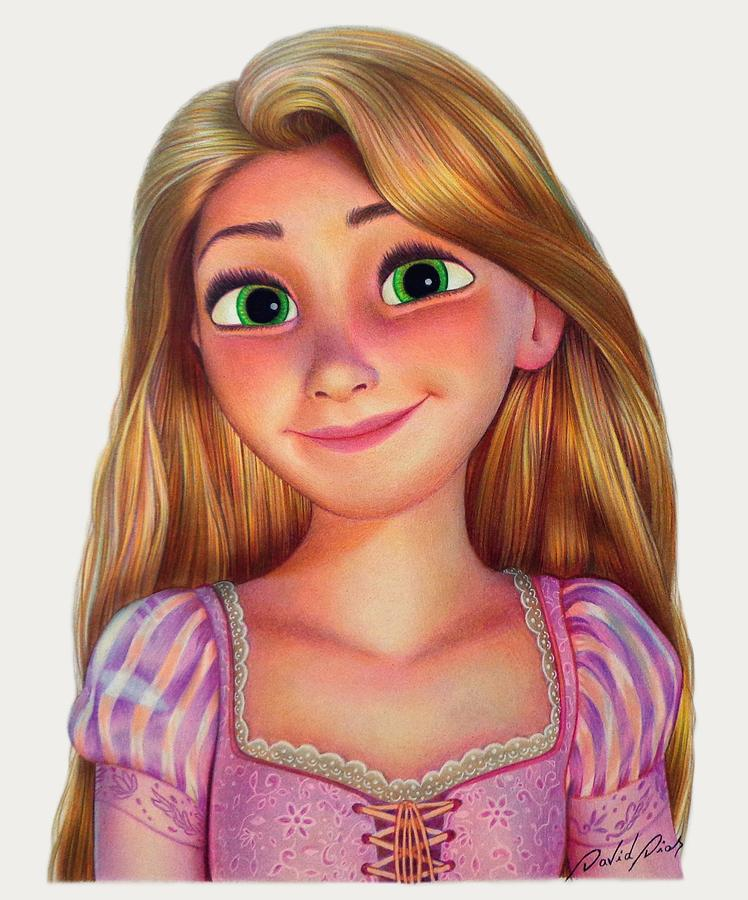 Rapunzel Drawing by David Dias