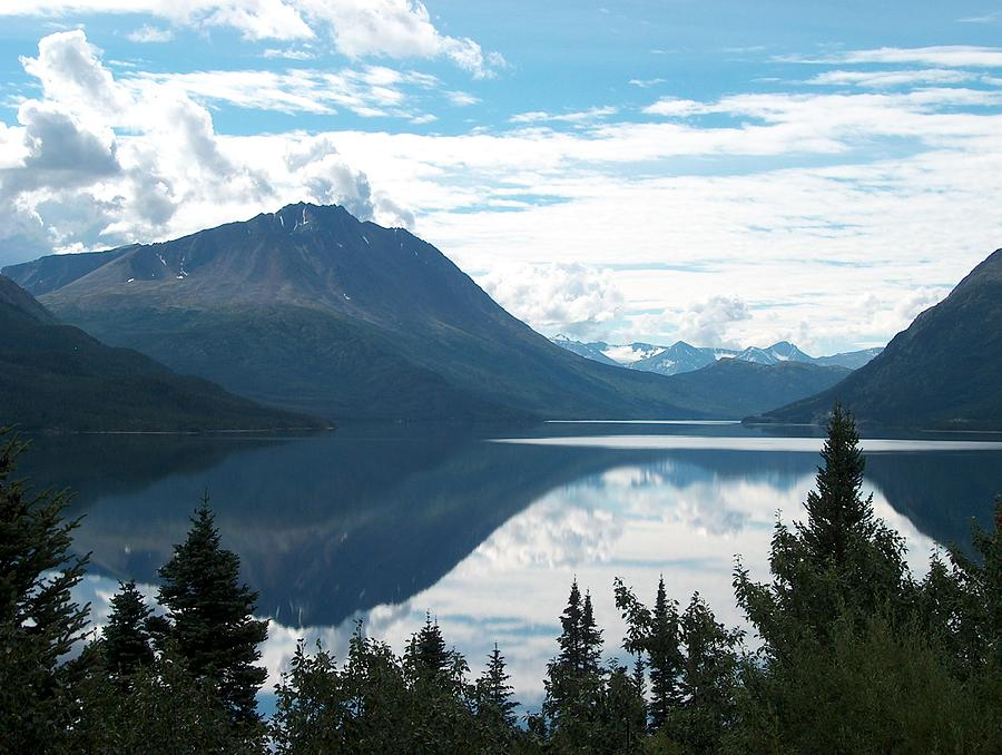 Lake Photograph - Rare Moment On Tutchi Lake by Janet  Hall