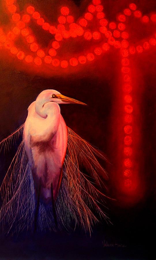 Bird Painting - Rasberry Glow by Valerie Aune