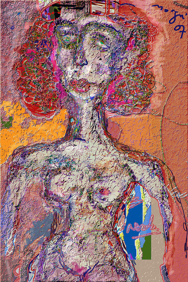 Nude Mixed Media - Rashida by Noredin Morgan