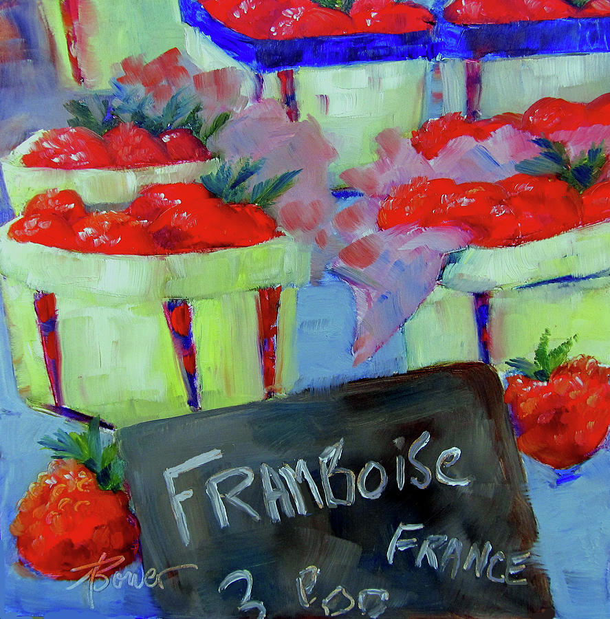 Raspberries Provencal  by Adele Bower