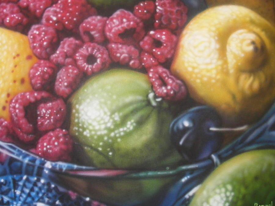 Raspberry Lime Painting by Dan Remmel