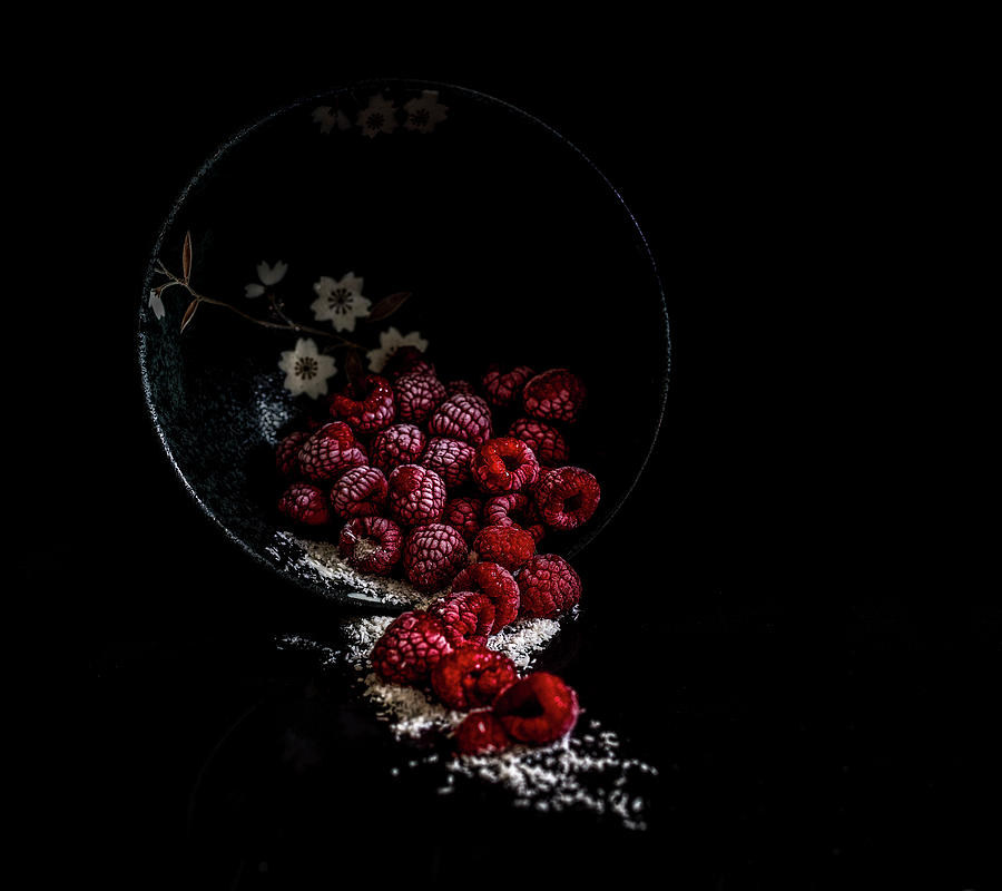 Raspberry Photograph - Raspberry Pour by Phillips and Phillips