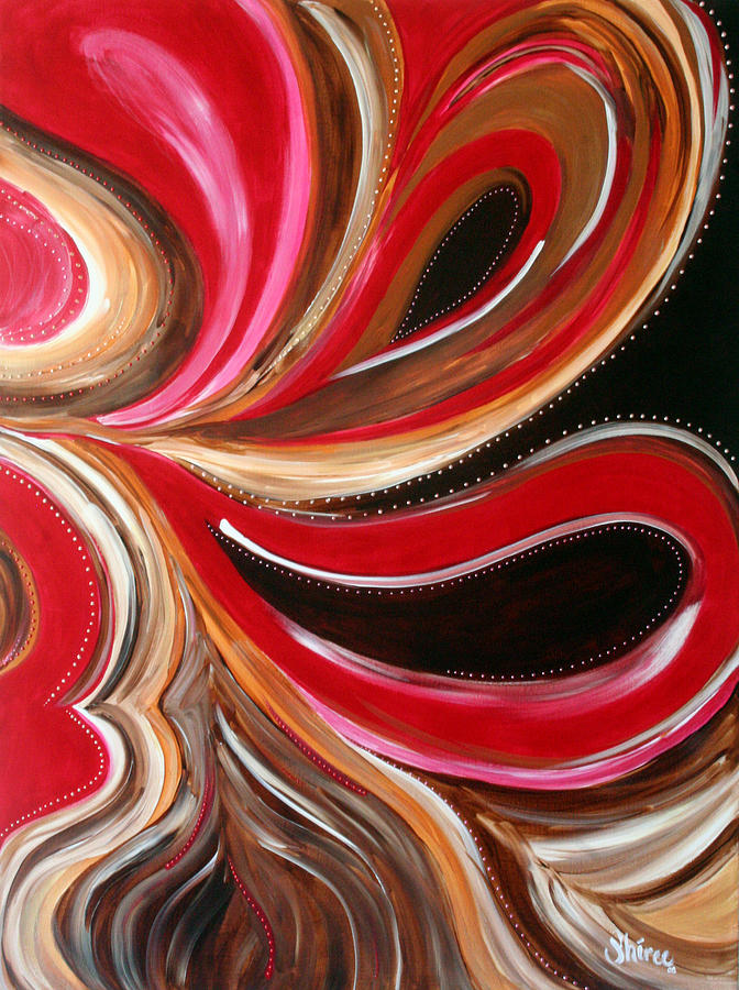 Abstract Paintings Painting - Raspberry Pralines N by Shiree Gilmore