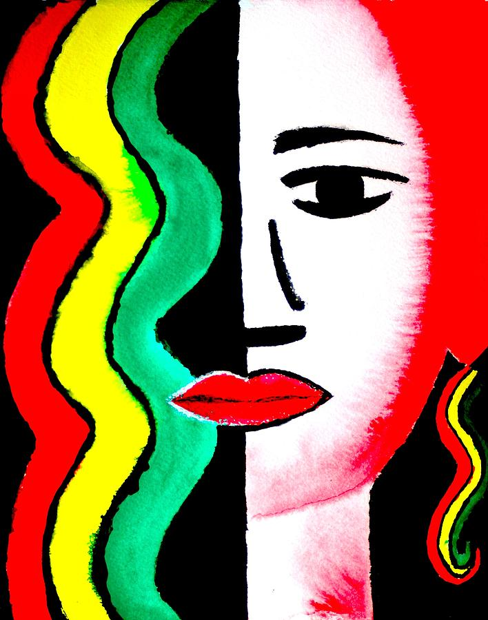 Female Portrait Painting - Rasta Icon Girl by William Burgess