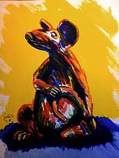Rat Painting - Rat by Hal Bailey