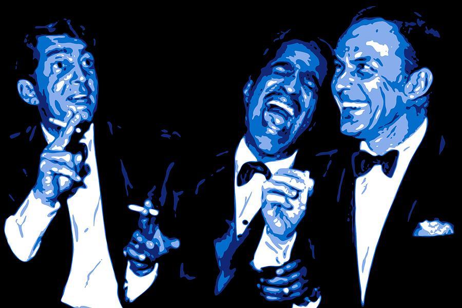 Frank Sinatra Digital Art - Rat Pack at Carnegie Hall by DB Artist