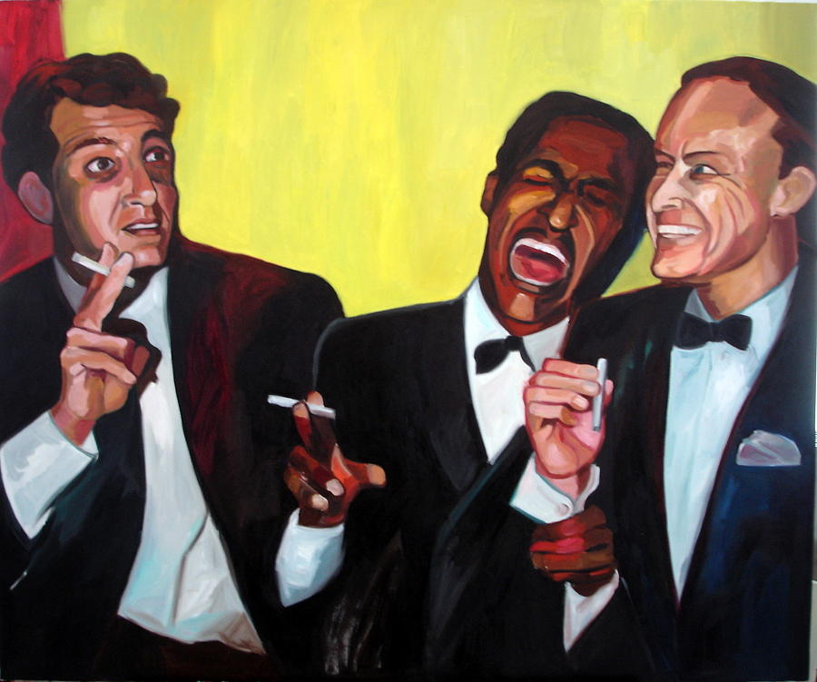 Rat Pack Painting - Rat Pack by Carmen Stanescu Kutzelnig