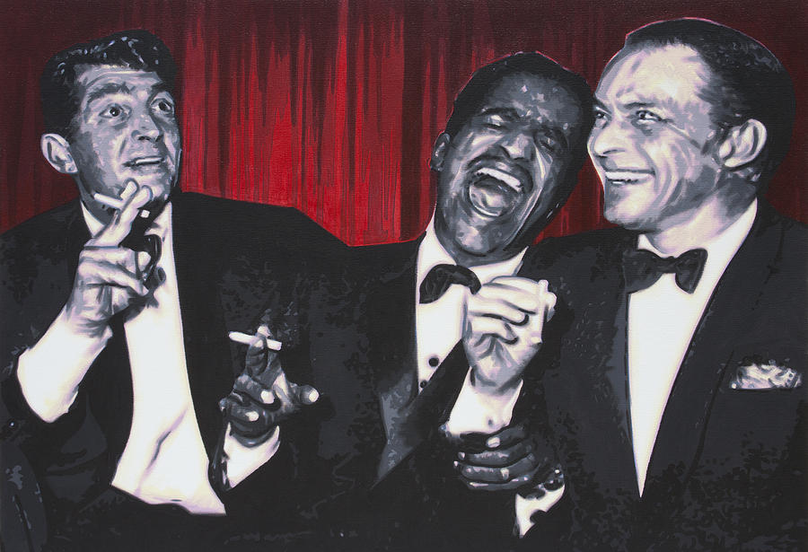 Ludzska Painting - Rat Pack by Luis Ludzska