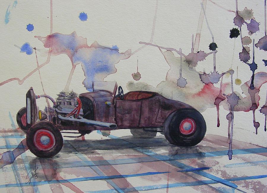 Rat Rod Painting - Rat Rod by Mark Spitz