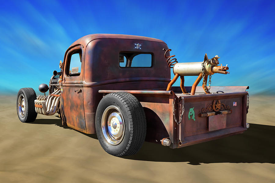 Transportation Photograph - Rat Truck On Beach 2 by Mike McGlothlen