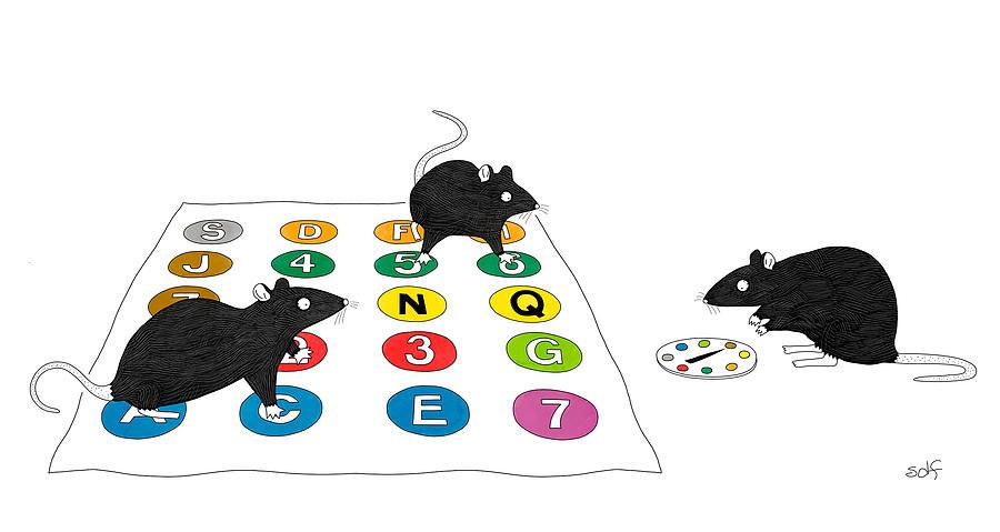 Rat Twister Drawing by Seth Fleishman