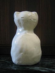 Ceramic Mixed Media - Rattle Cat by Lehua Ehukai