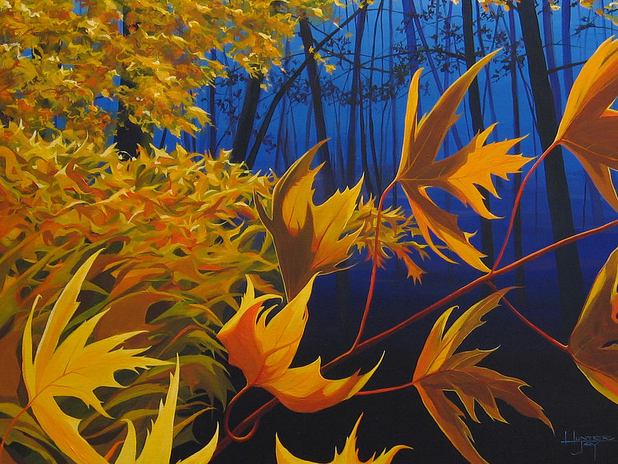Autumn Leaves Painting - Raucous October by Hunter Jay