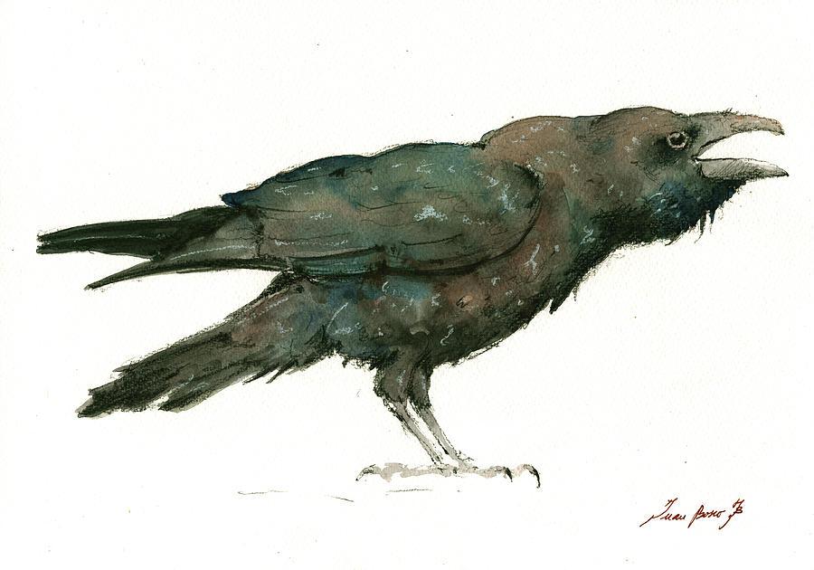 Raven Bird Painting - Raven Bird by Juan Bosco