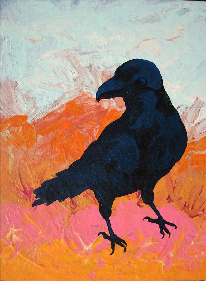 Raven Painting - Raven I by Dodd Holsapple
