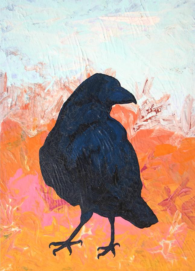 Raven Painting - Raven IIi by Dodd Holsapple