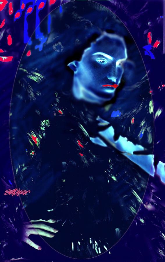 Raven Woman Digital Art by Seth Weaver
