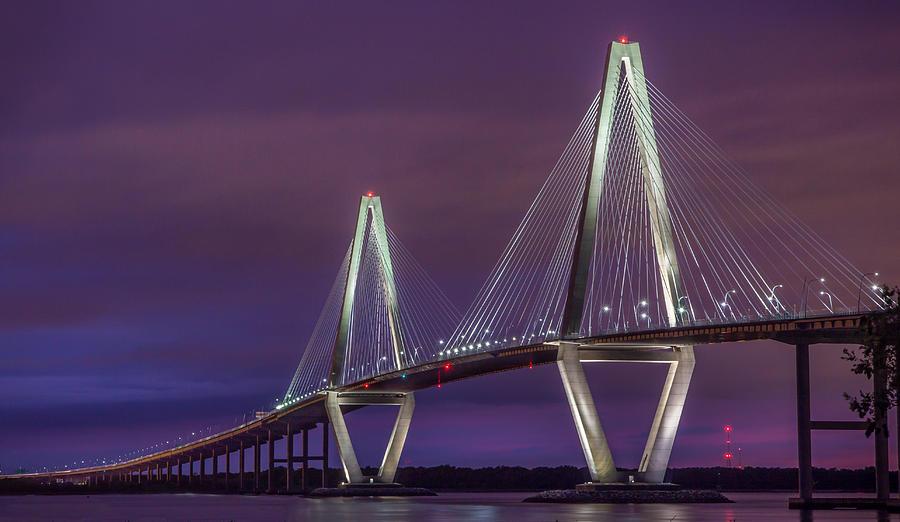 Ravenel Bridge At Sunset Photograph