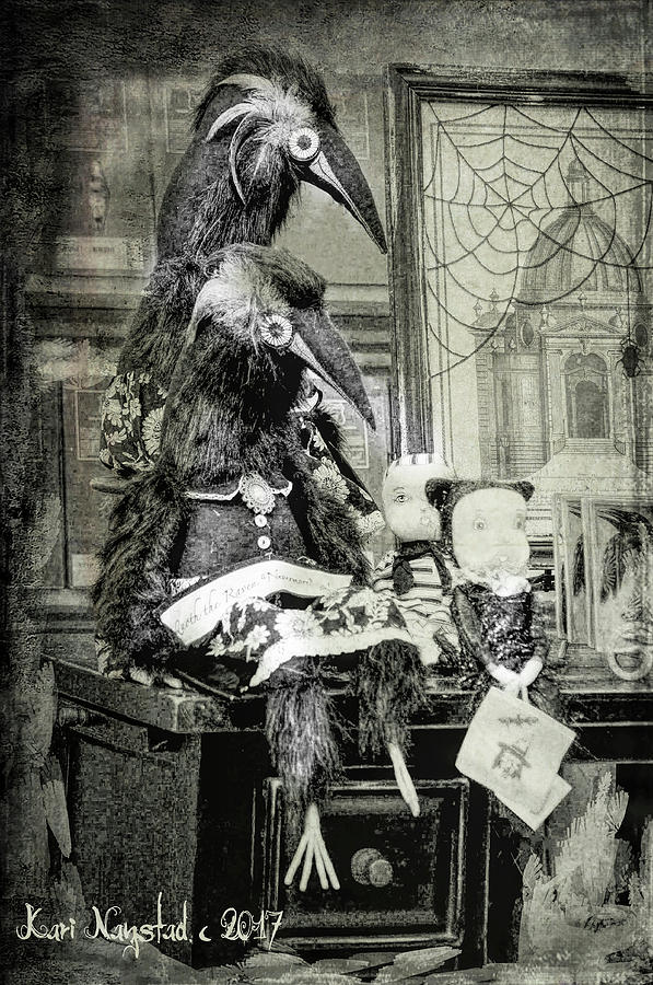 Ravens for Halloween by Kari Nanstad
