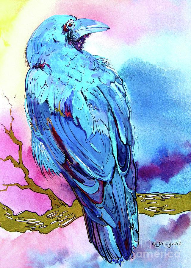 Ravens Painting - Ravens Sight by Jo Lynch