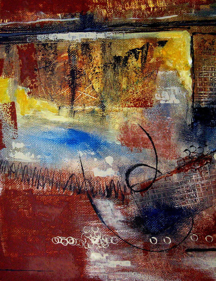 Abstract Painting - Raw Emotions by Ruth Palmer