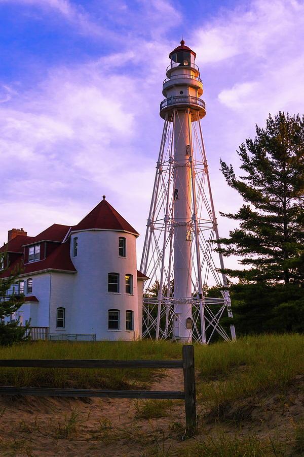 Lighthouse Photograph - Rawley Point Lighthouse by Chuck De La Rosa