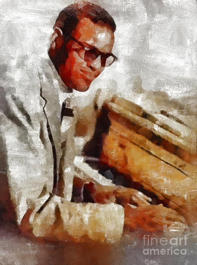 Ray Charles, Music Legend Painting
