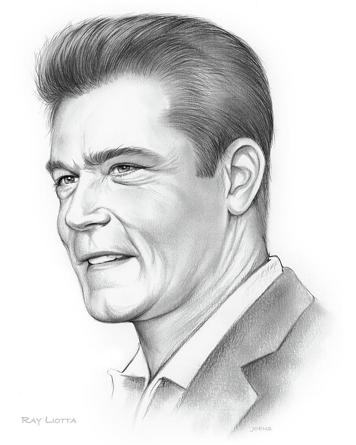 Ray Liotta Drawing