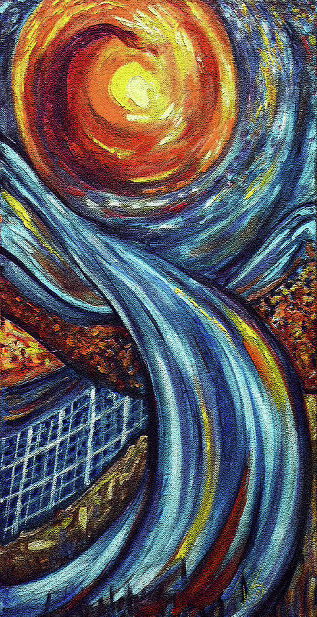 Abstract Painting - Ray Of Hope 3 by Harsh Malik