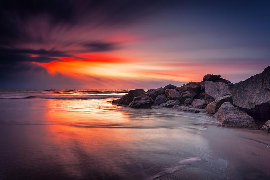 Sunset Photograph - Ray Of Hope by Edward Kreis