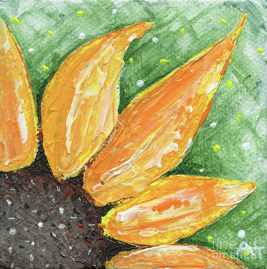 Sunflower Painting - Ray of Sunshine by Annie Troe
