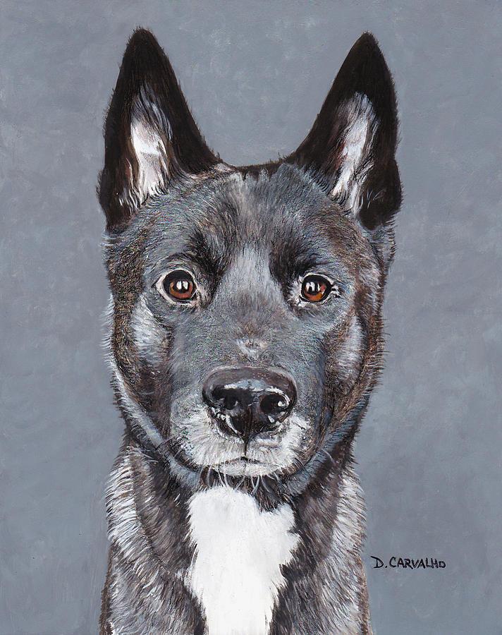 Dog Painting - Raya by Daniel Carvalho