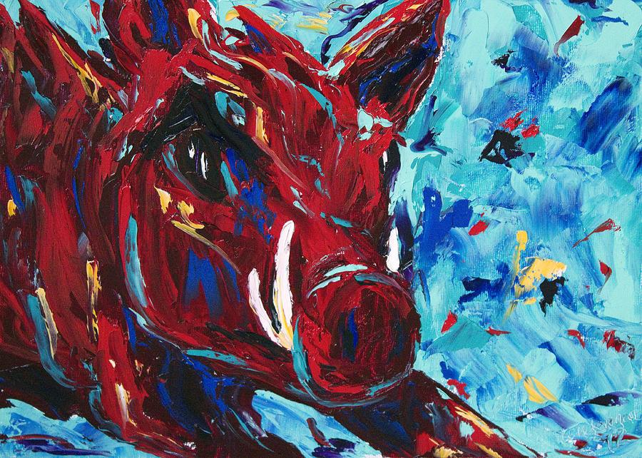 Arkansas Razorbacks Painting   Razorback By Beth Lenderman