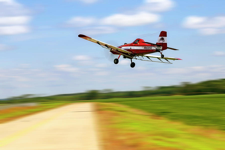 Crop Duster Photograph - Razorback Flyby - Crop Duster - Ag Pilot by Jason Politte