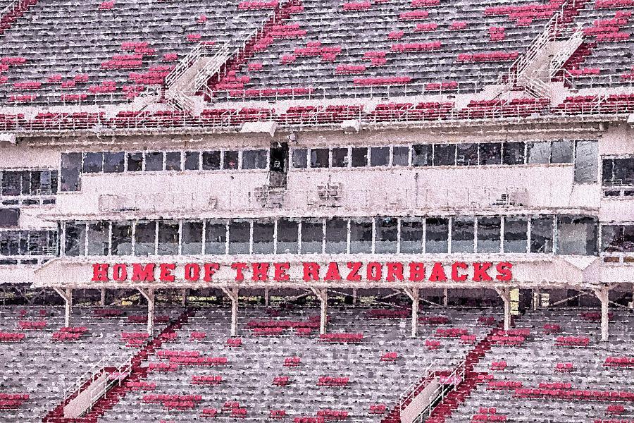 University Of Arkansas Photograph - Razorback Stadium by JC Findley